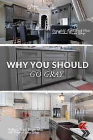 Grey Kitchen Cabinets by 26 Best Gray Cabinets Images On Pinterest Gray Cabinets Kitchen