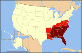 us map middle states southeastern united states