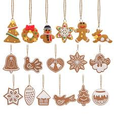 tree ornaments 17pcs lot animal snowflake biscuits hanging christmas tree