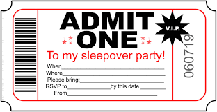 slumber party invitation template cimvitation