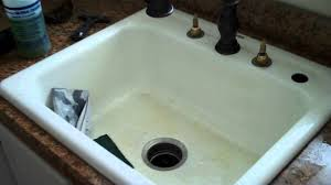 how to restore an old bath tub and sink youtube