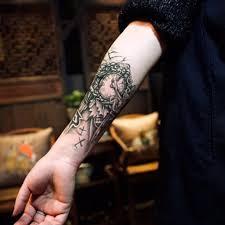 black clock tatoos for men temporary large mechanical arm leg