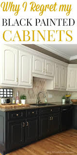 Kitchen With Brown Cabinets Black Kitchen Cabinets The Ugly Truth At Home With The Barkers