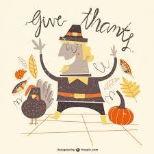 thanksgiving illustration vector free