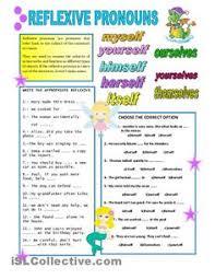 reflexive pronouns key 2nd grade language arts pinterest