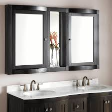 lighted bathroom mirror black wooden stool round porcelain sink