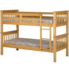 Jupiter Ft Bunk Bed Oak At Wilkocom - Pine bunk bed