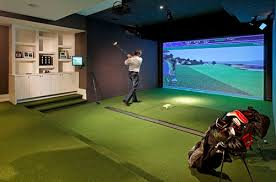 Home Design Simulation Games Inside The Doors Of 8 Gorgeous Golf Course Homes Golf Simulators