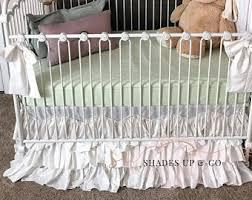 white baby bedding etsy
