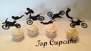 motocross bike cake motocross motorcycle cupcake toppers 12