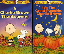 peanuts and thanksgiving vhs gift set
