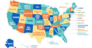 Show Me A Map Of The United States Of America This Map Shows What People The Most In Each State Huffpost