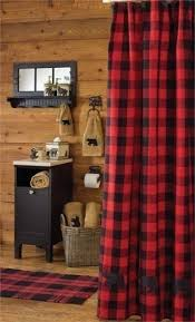 Red Black Shower Curtain Red Plaid Shower Curtain Foter