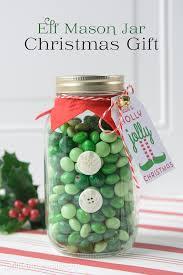 elf mason jar christmas gift holiday inspiration hoosier homemade