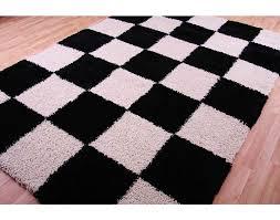 White Shag Rug El Dorado Black U0026 White Shaggy Rug U2014 Jen U0026 Joes Design The Best
