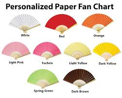 personalized paper fans custom printed paper fans promotional fans free shipping
