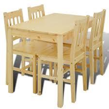 table avec 4 chaises magnifique table a manger avec 4 chaises en bois naturel achat