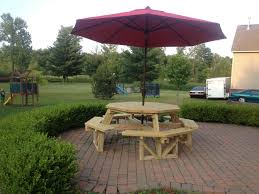 Kids Wooden Picnic Table Exteriors Awesome Blue Picnic Table Round Wooden Picnic Bench
