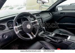 mustang inside ford mustang inside cabin moscow russia stock photo 581955298