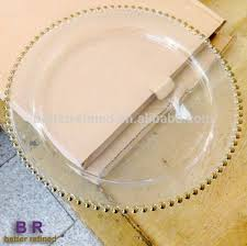 wedding plates cheap cheap wholesale wedding gold edge glass charger plates buy