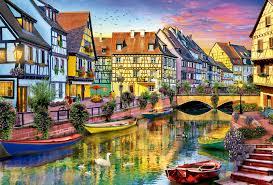 Colmar France Colmar Canal France Jigsaw Puzzle Puzzlewarehouse Com