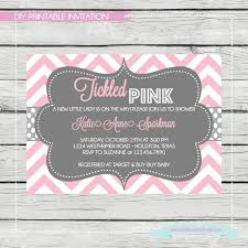 pink and gray baby shower invitations marialonghi