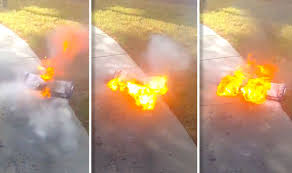 amazon hoverboard black friday watch hoverboard self balancing scooter erupt into flames tech