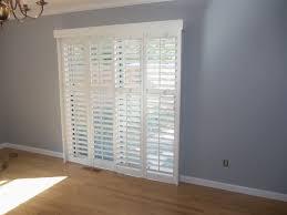 marvelous plantation shutters for sliding patio doors best
