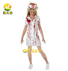 cosplay halloween costume nurse blood clothing costume super scary