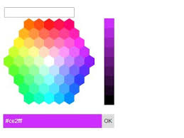 html input pattern hexadecimal hexagon color picker plugin with jquery and jquery ui free jquery
