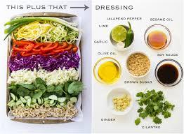 asian zucchini noodle salad recipe little broken