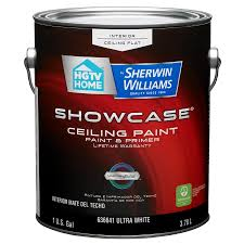 shop hgtv home by sherwin williams showcase white flat latex