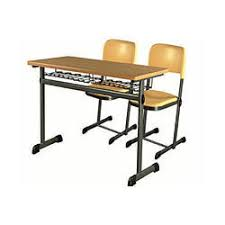 secondary college benches college student desk bench