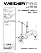 Weider Pro Bench Weider Pro 265 Manuals