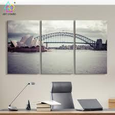 aliexpress com buy 3 panels modern canvas painting the sydney