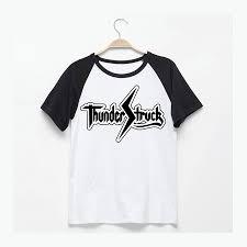 aliexpress com buy acdc thunder struck logo printing t shirt men