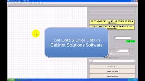 free cabinet design software with cutlist cut list door lists in cabinet solutions software youtube