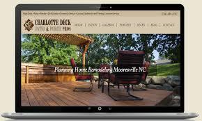 deck builder website designs contractor websites