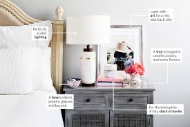How To Organize Nightstand How To Style The Perfect Nightstand Apartment Therapy