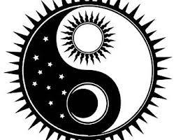 yin yang sun and moon drawing clipartxtras