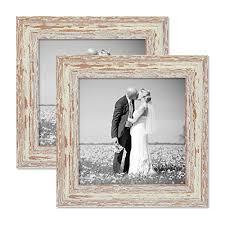 cornici per foto set da 2 cornici per foto 20x20 cm bianco shabby chic vintage in