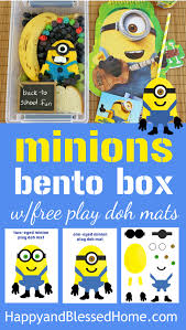 free minions play doh mats minions bento box tutorial happy