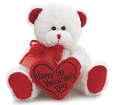 valentines bears happy s day 8 animal plush white with