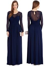coast luxury royal blue gala evening cocktail party maxi dress