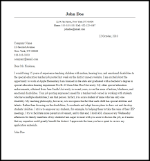Cover Letter Special Education professional special education cover letter sle writing