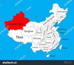 Chongqing China Map by Xinjiang Uyghur Province Map China Vector Stock Vector 323312750