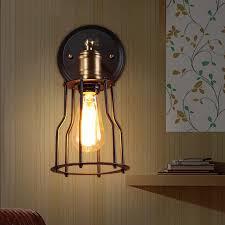 Edison Bulb Wall Sconce Surprising Edison Bulb Wall Sconce Industrial Cage Wall Sconce