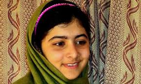 Malala Yousafzai, the Pakistani schoolgirl who was shot by the Taliban for speaking out against militants and promoting education for girls. - Malala-Yousafzai-008