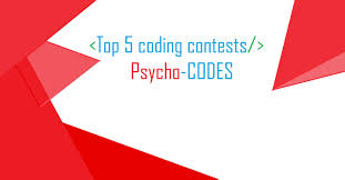 five coding contest every programmer should participate in