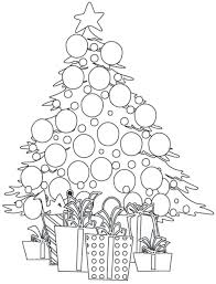 coloring pages tree presents free christmas ornaments online